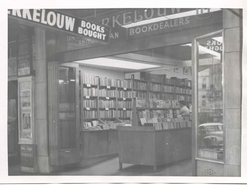 An old photograph of the Berkelouw Bookstore on King Street in Sydney